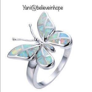⭐️Fire opal butterfly ring